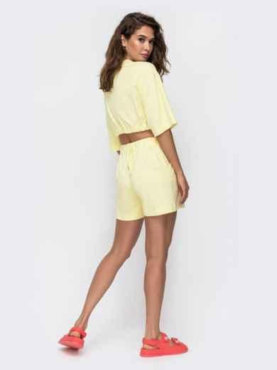 Комплект желтого цвета с шортами на кулиске   49348, фото 5
