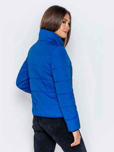 Куртка синего цвета с карманами на молнии 40628, фото 3