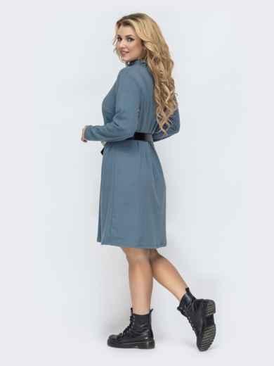 Голубое платье-трапеция большого размера 45117, фото 4