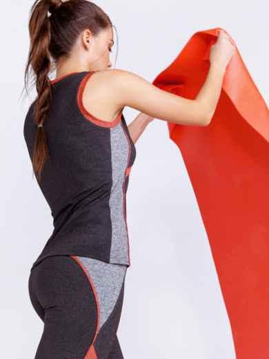 Майка из спортивного трикотажа цвета графит 44448, фото 3