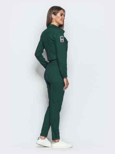 Зеленый комбинезон с стиле сафари 39787, фото 3
