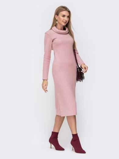 Платье с воротником-хомут и разрезами по бокам 40530, фото 2