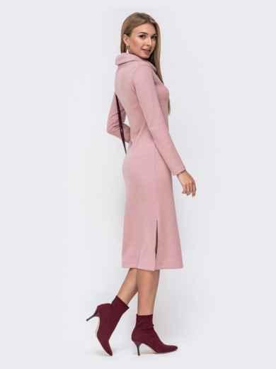 Платье с воротником-хомут и разрезами по бокам 40530, фото 3