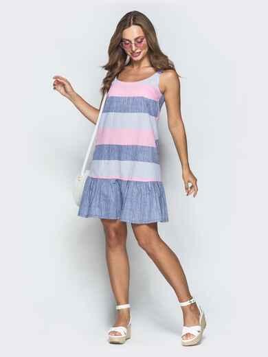 Платье в розовую полоску 39327, фото 1