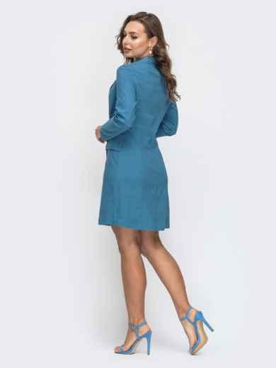 Платье-пиджак синего цвета 45543, фото 2