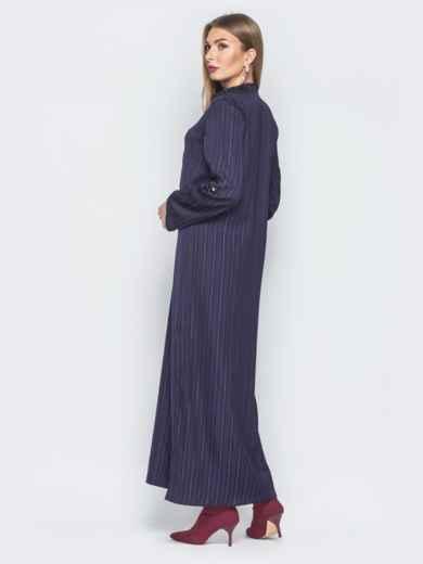 Фиолетовое платье-макси со шлёвками на рукавах 18733, фото 3