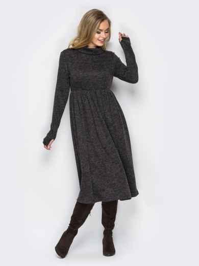 """Платье из трикотажа """"ангора"""" с расклешенным низом 16456, фото 2"""