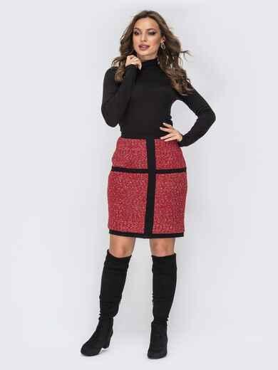 Платье-гольф чёрного цвета с потайной молнией 44185, фото 1