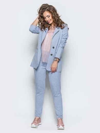 Комплект с брюками на резинке светло-серый 12723, фото 2