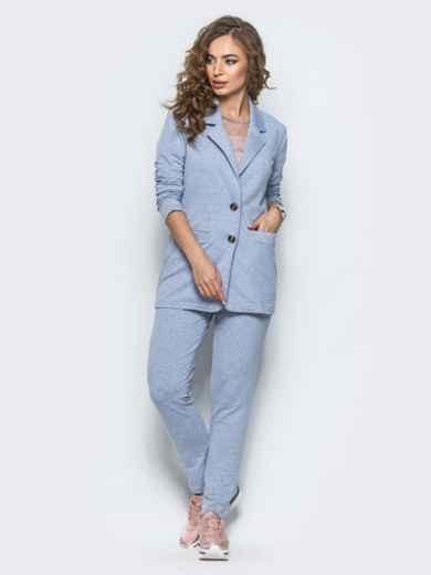 Комплект с брюками на резинке светло-серый 12723, фото 3