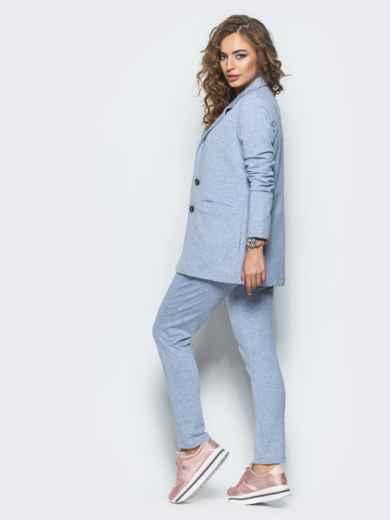 Комплект с брюками на резинке светло-серый 12723, фото 4