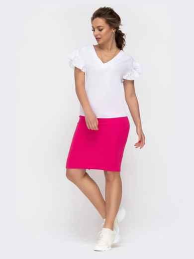 Комплект из юбки и блузки розовый 46621, фото 2