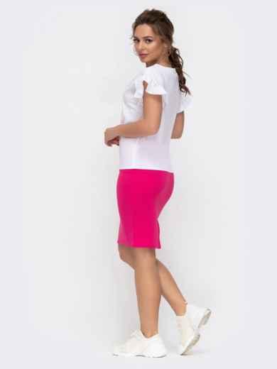 Комплект из юбки и блузки розовый 46621, фото 3