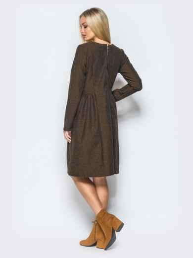 Платье кофейного цвета с молнией на спинке 17467, фото 2