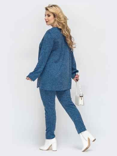 Синий комплект большого размера из ангоры с брюками 44533, фото 3