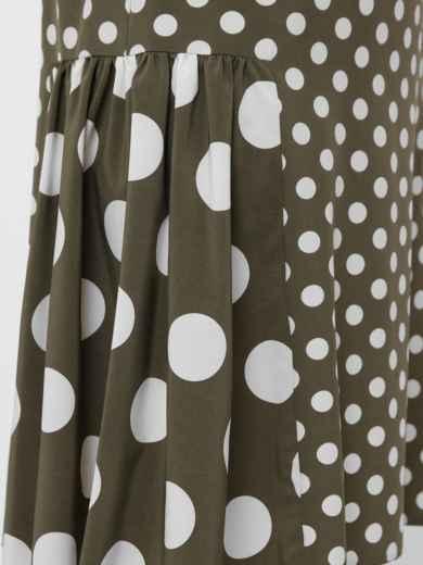 Платье большого размера цвета хаки в крупный горох  48571, фото 5
