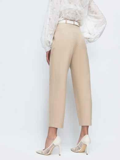Бежевые брюки с завышенной талией 45803, фото 2