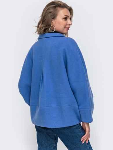 """Демисезонная куртка с рукавом """"летучая мышь"""" голубая 50621, фото 2"""