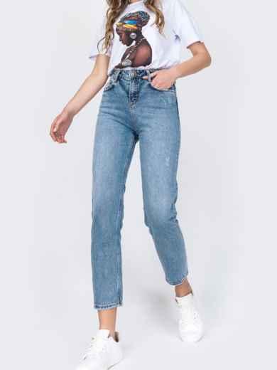 Зауженные джинсы голубого цвета 48907, фото 2