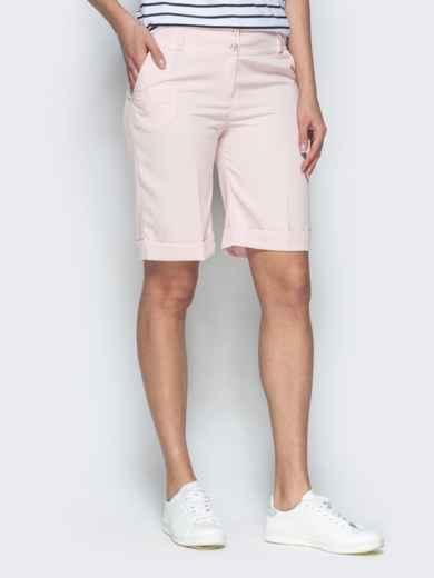 Пудровые шорты из костюмной ткани в стиле casual 38143, фото 2