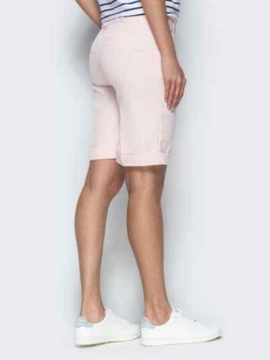 Пудровые шорты из костюмной ткани в стиле casual 38143, фото 3