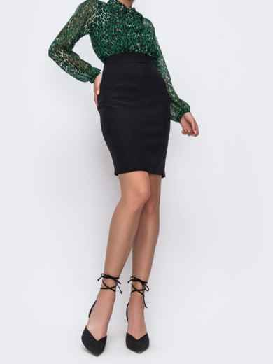 Черная юбка-мини в классическом стиле 49600, фото 2