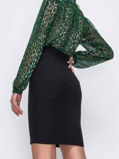 Черная юбка-мини в классическом стиле 49600, фото 3