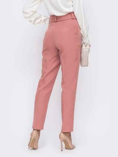 Розовые брюки с высокой посадкой и поясом в комплекте  50084, фото 3