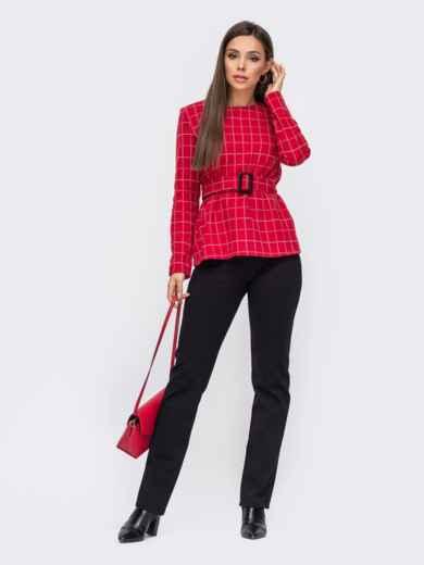 Красный брючный комплект с брюками на флисе 50843, фото 1
