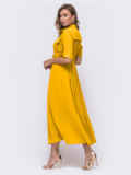 Платье-рубашка желтого цвета на кнопках 54112, фото 2