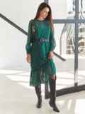 Шифоновое платье-миди с анималистическим принтом зеленое 54968, фото 3