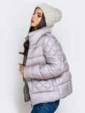 Стёганая куртка с накладными карманами серая 40719, фото 5