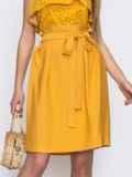 Юбка с вшитым поясом желтого цвета 48642, фото 1