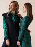 Черное платье без рукавов из двунитки 52863, фото 2