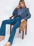 Синяя рубашка прямого кроя с принтом 45747, фото 4