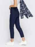Укороченные брюки со стандартной посадкой темно-синие 54649, фото 4