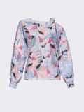 Принтованная блузка на одно плечо розовая 54609, фото 4