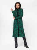 Зеленое платье с принтом и разрезами по бокам 52941, фото 2