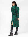 Зеленое платье с принтом и разрезами по бокам 52941, фото 3