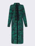 Зеленое платье с принтом и разрезами по бокам 52941, фото 4