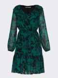 Зеленое платье с принтом и воланом по низу 52939, фото 5