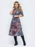 Приталенное платье с принтом синее 45362, фото 1