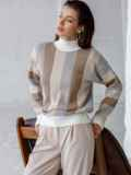 Белый свитер со спущенной линией плечевого шва 51447, фото 2