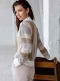 Белый свитер со спущенной линией плечевого шва 51447, фото 4