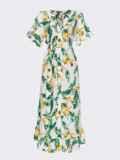 Белое платье из софта с цветочным принтом на пуговицах 54261, фото 5