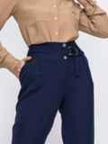 Тёмно-синие брюки с вместительными карманами по бокам 49635, фото 2