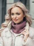Тонкий шарф-хомут из мягкой ангоры фиолетовый 51088, фото 1