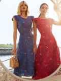 Красное платье с оригинальным вырезом по спинке 54284, фото 4