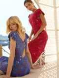 Синее платье с оригинальным вырезом по спинке 54283, фото 3
