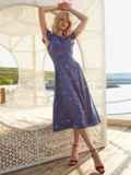 Синее платье с оригинальным вырезом по спинке 54283, фото 4